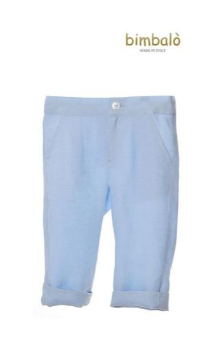 Bimbalò Boys Blue Linen Trousers